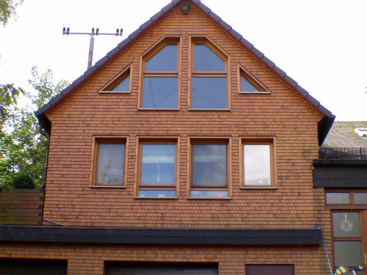 Holzschindel Fassade Beispiel Referenz