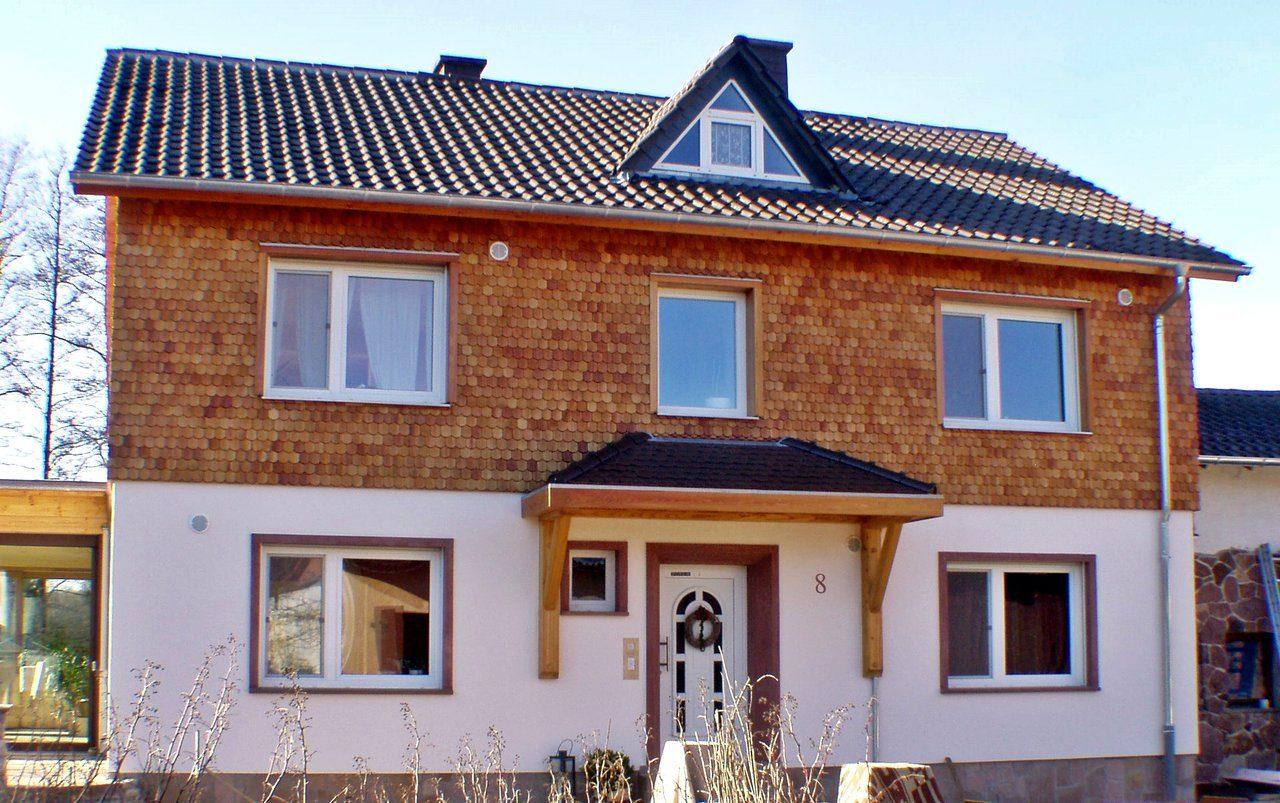Holzschindel-Fassade Beispiel Referenz