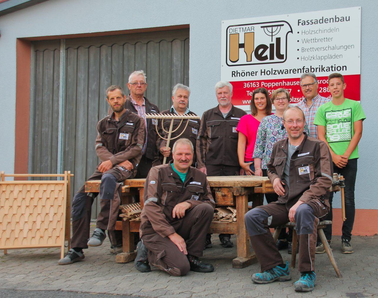 Das Team von Fassadenbau Heil aus Abdsroda